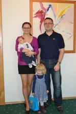 Vítání občánků - Víťa 2 měsíce, Anetka 3 roky ... skoro 5 let manželé