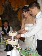 třípatrový tvarohový; fotbalový, dárek od nevěsty ženichovi