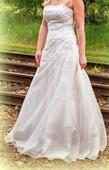 svatební šaty áčkového střihu, 38