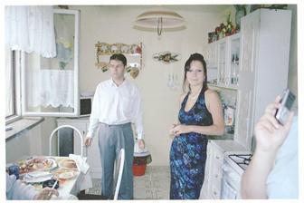 u nás doma v modrých šatech moje sestra