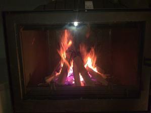 prvý ohník v novej vložke