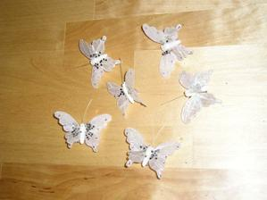 Motýlci na stůl pro děti na hraní.