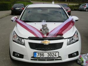 Zkouška výzdoby auta nevěsty