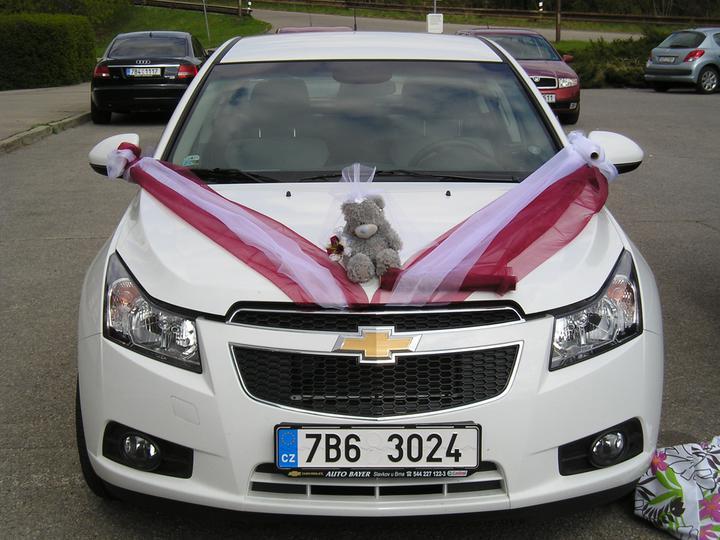 Co už máme :-) - Zkouška výzdoby auta nevěsty