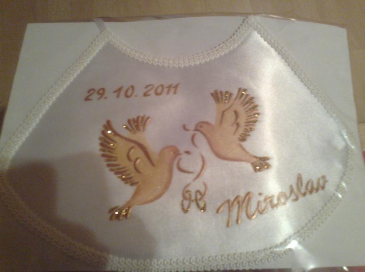 Predstavy a sny 29.10.2011 - Svadobný podbradník môjho miláčika