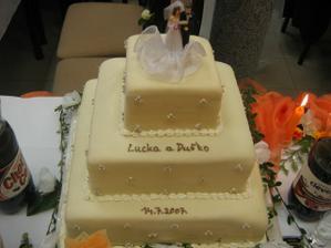 úžasná svadobná torta