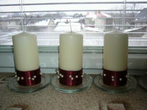 Svíčky - dekorace na stůl