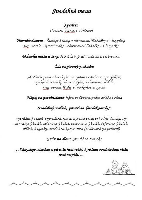 Magduška a Maťulko - menu :)