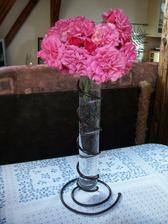 Manžel přinesl růže ze zahrádky x-)