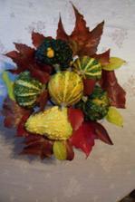 Podzim u nás doma s vlastní úrodou.
