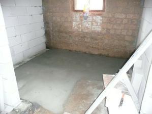 beton v koupelně a na wc
