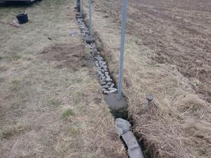 betonování základů na plot