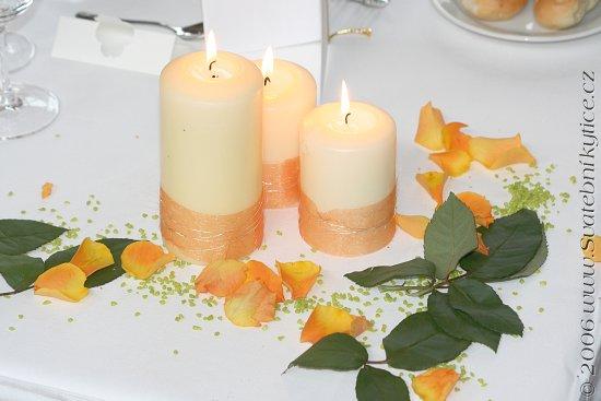 Inspirace - hmm, takhle nějak nazdobit svíčky...