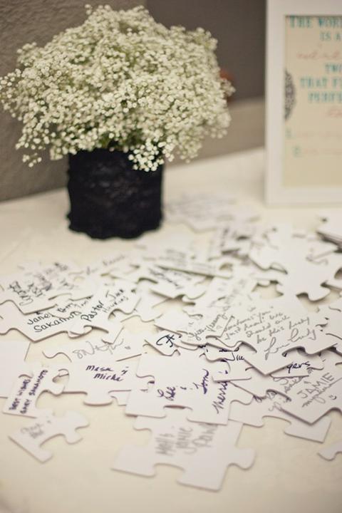 Wedding DIY ideas - Puzzle guest book