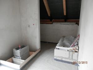 Horní kupelna,vana a sprcháč