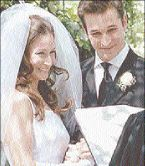 Noah Wyle a Tracy Warbin