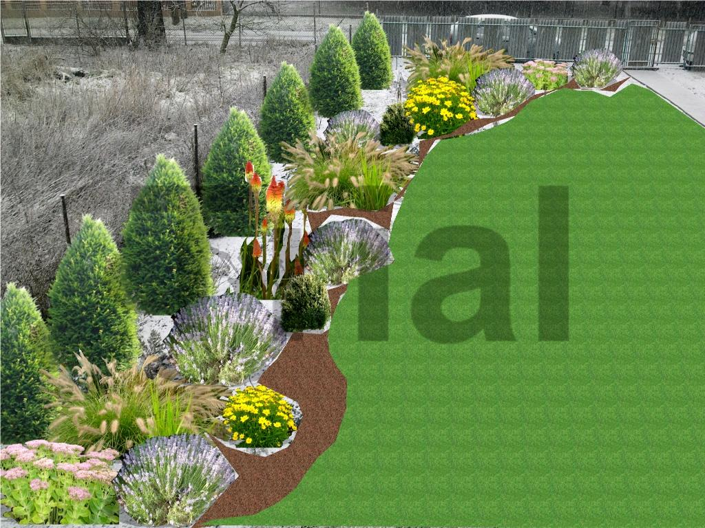 Návrhy části zahrad - Návrh 1