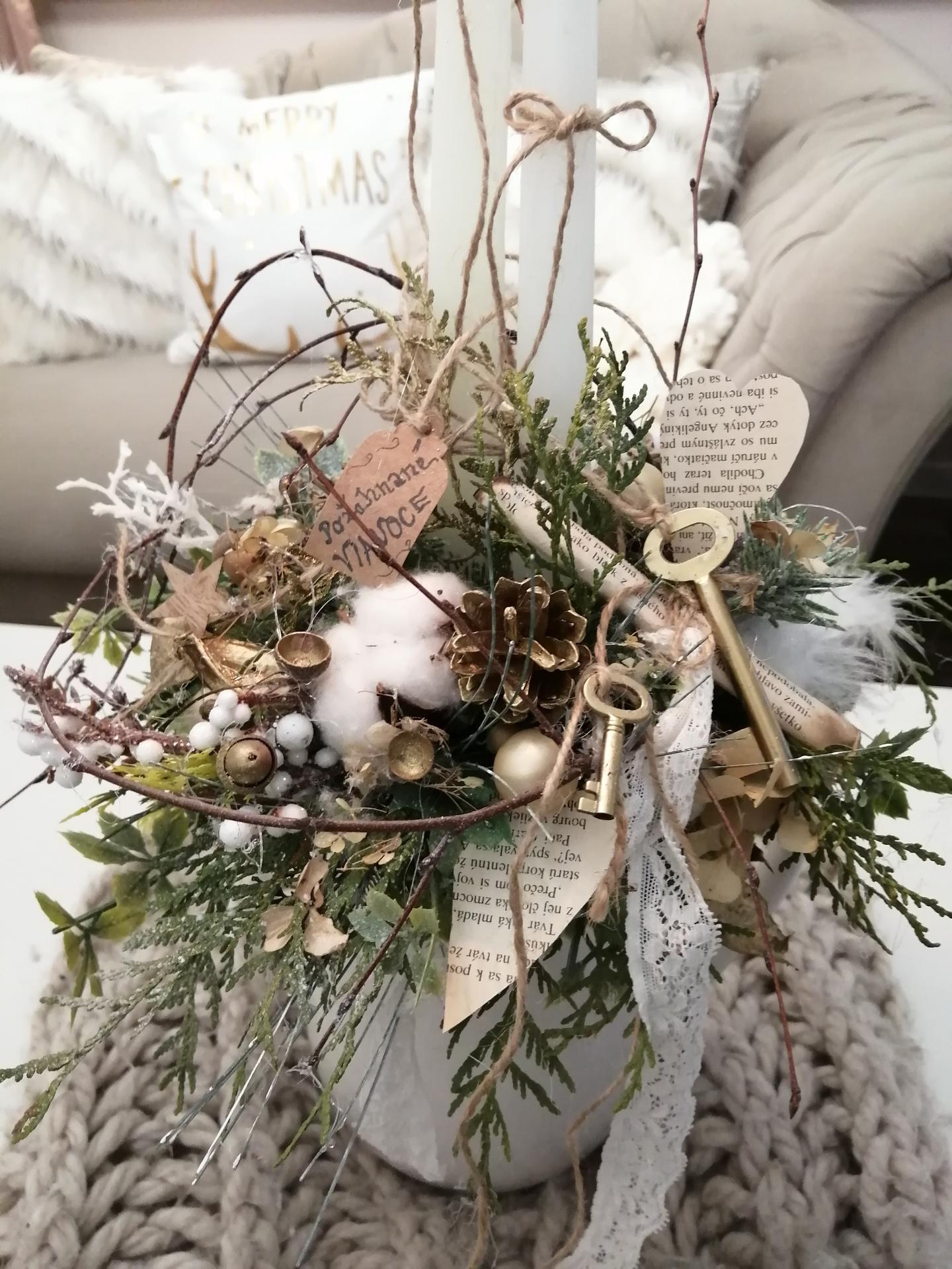 Vianočný aranžmánik ❄️ - Obrázok č. 2