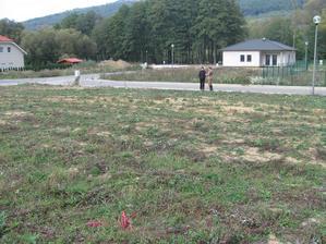 Oktober 2012 – zameranie pozemku