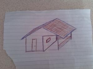 Asi takto si to predstavujem ... ale dvere budu pod strechou, z boku