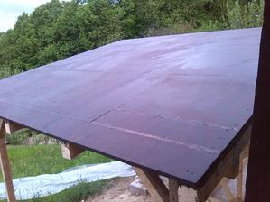 hydroizolacny nater na komplet celu strechu aj na spoje a boky