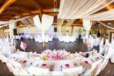 svadobná hostina s výzdobou