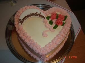 tuto tortu sme dostali od mojej maminy, bola kraaasna, dakujeme mami!
