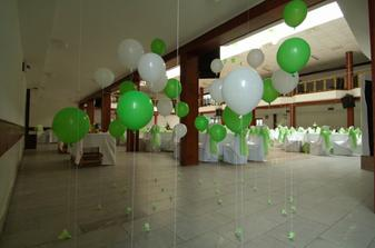 výzdoba bielo zelená :o) super