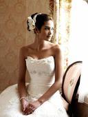 svadobné šaty vyšívané  - prírodná biela , 36