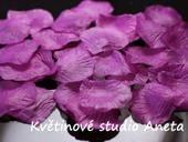 Okvětní plátky 100ks fialovo růžové,