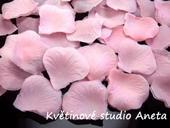 Okvětní plátky 100ks sv. růžové,