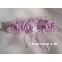 Svatební podvazky fialové - Obrázek č. 1