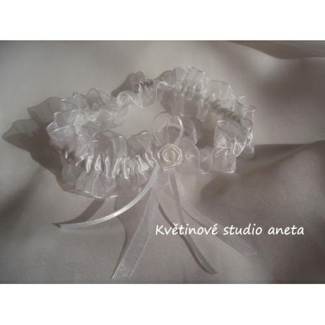 Svatební podvazek bílý - Obrázek č. 1