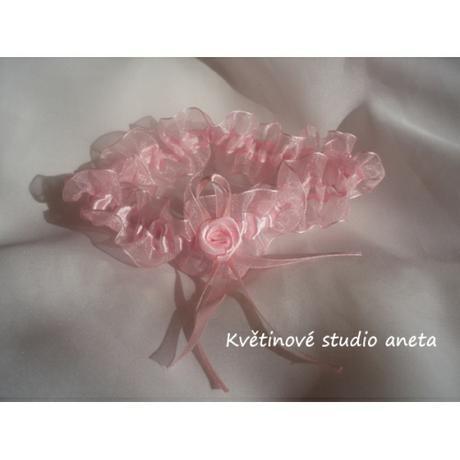 Svatební podvazky růžové - Obrázek č. 1