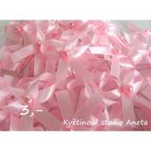 Svatební vývazky růžové,
