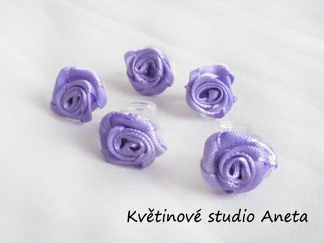 Skřipeček do vlasů fialový lila - Obrázek č. 1