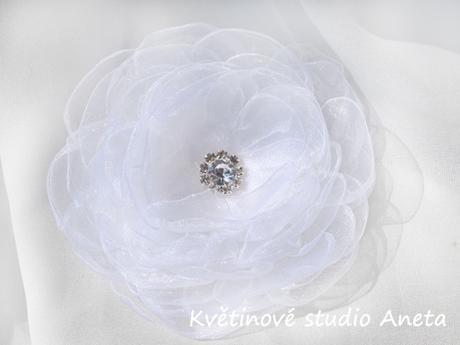 Květ do vlasů bílý - Obrázek č. 1