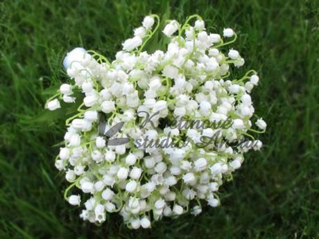 Svatební kytice z komvalinek - umělá - Obrázek č. 1