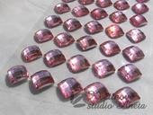 Nalepovací kamínky růžové čverečky,