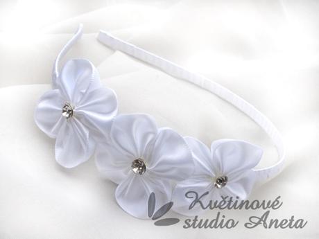 Čělenka bílá se 3 květy - Obrázek č. 1