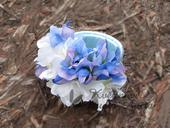 Svatební náramek bílá/modrá,