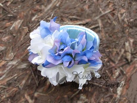 Svatební náramek bílá/modrá - Obrázek č. 1