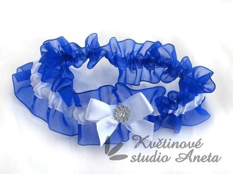 Podvazek královsky modrý LUX B - Obrázek č. 1