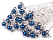 Vlásenka květinka perlička modrá královsky,