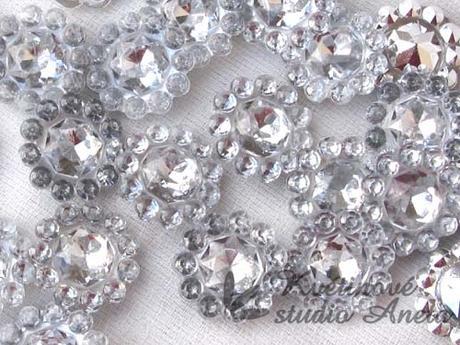 Štrasové květinky krystal - Obrázek č. 1