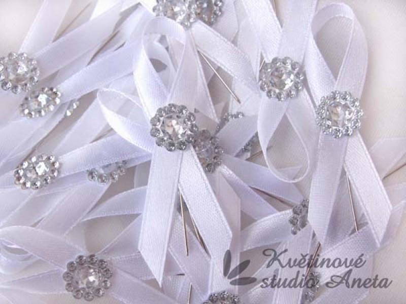 Svatební mašličky smyčky krystal - Obrázek č. 1