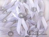 Svatební mašličky smyčky krystal,
