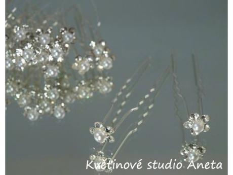 Vlásenka květinka perlička krystal mini - Obrázek č. 1