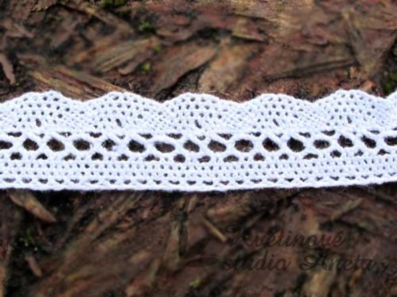 Bavlněná krajka bílá 20mm - Obrázek č. 1
