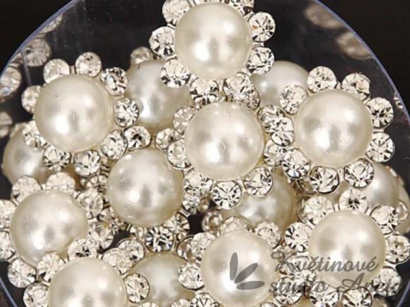 Vlásenka květinka perlově bílá velká - Obrázek č. 1